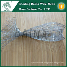 stainless steel metal rope mesh bag with galvanized square wire mesh