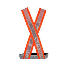 100% Polyester Reflective Safety Straps Vest with PVC Tape