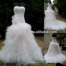 СЗ-476 новые горячие продажи тюль Скрт реальный образец свадебное платье 2014