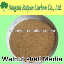 Precio de polvo de cáscara de nuez 60 malla para la eliminación de grasa