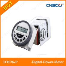 Interruptor de tiempo programable del temporizador de la energía digital del LCD Relé CA 12V 16A 168 horas