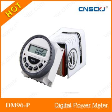 Le relais programmable de temps de minuterie de puissance d'affichage à cristaux liquides de Digital AC 12V 16A 168 heures