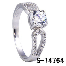 Nouveau style 925 Sterling Silver Micro Set Ring (S-14764)