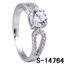 Novo estilo 925 prata esterlina micro ajuste anel (s-14764)