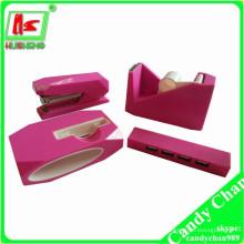 Розовый розовый Набор канцелярских принадлежностей розового скотча