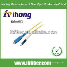 SC-LC singlemode simplex fibra óptica cable de remiendo fabricante con alta calidad