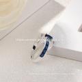 venta al por mayor 2017 Colección de Verano Pure 925 Anillos de Plata Azul Zafiro Anillo de Dedo de Las Mujeres Joyería Fina