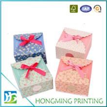 Custom Paper Printed Chocolate Box with Silk Ribbon