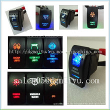 Toyota Lexus Reverse Parking Sensor Spezialschalter Steuerschalter 12 Volt Wippschalter Ein / Aus Beleuchtet