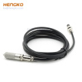 waterproof sensor metal stainless steel protective cover housing cable with RHT for temperature & humidity sensor