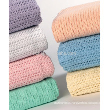100 Cotton Airline Cellular Blankets For Summer