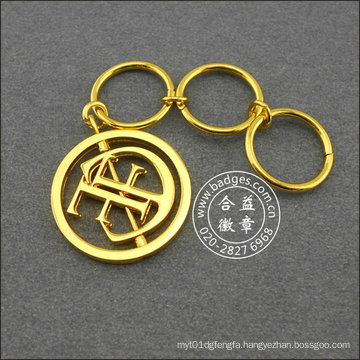 Hollow Gold Printed Key Ring, Promotional Gift (GZHY-KA-043)