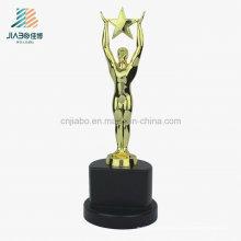 2016 Souvenir Promotional Gift Craft Logotipo personalizado Metal Gold Trophy