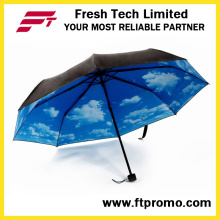 Manual de OEM abrir guarda-chuva dobrável com logotipo