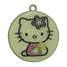Etiquetas personalizadas Round Metal Catty Hang Metal estampadas