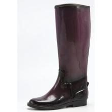 Черный и темно фиолетовые женщины, резиновые сапоги для верховой езды