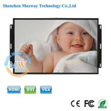 16: 9 de resolução 1600X900 open frame Monitor LCD de 17.3 polegadas com botões de menu