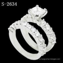 Anillo de bodas de plata del zirconia 925 de la nueva manera (S-2634. JPG)