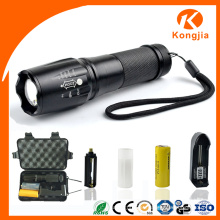 Power aleación de aluminio antorcha recargable 18650 Tactical LED emergencia linterna
