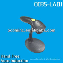 OCBS-LA01-RB RS232 Negro Auto-Induction Laser Hand Free Barcode Scanner