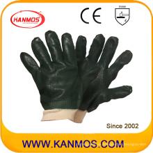 Negro antideslizante seguridad industrial PVC dipped guantes de trabajo (51203SP)