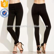 Черный эластичный пояс Леггинсы OEM и ODM Производство Оптовая продажа женской одежды (TA7032L)
