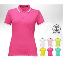 2016 Top Quality Golf T-Shirt Polo Personalizado para Mulher