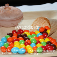Chocolate coated peanut snack candy in low price