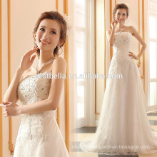 A-Line Silhouette und Sleeveless Design Brautkleider Heavy Perlen Kristall Bling Braut Brautkleider