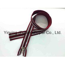 Cremallera de nylon larga 5 # con cinta reflectante para al aire libre