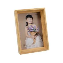Frame de foto de madeira antigo para presente