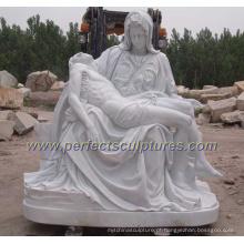 Jardim pedra escultura em mármore escultura estátua religiosa para a religião (SY-X1212)