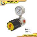 Regulador de pressão de argônio em aço inoxidável