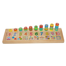 Wooden Educational Toy with Count & Match Numbers