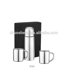 hot seller stainless steel vacuum water flask with carry strap 500ml +2*300ml