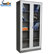 Steel furniture glass door office filing cabinet made in China