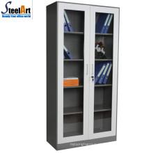 Armário de arquivo de escritório de porta de vidro móveis de aço made in China