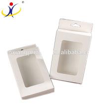 Boîte d'en-tête de carton de vente au détail de vente d'impression faite sur commande de vente chaude avec la fenêtre