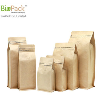 Eco Friendly Compostable Cornstarch PLA Plastic Food Packaging Bag con cierre de cremallera