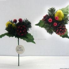Ornements décoratifs décoratifs de Noël en plastique décoratifs, piquets de Noël