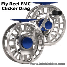 Carretel da pesca com mosca do CNC do arrasto do Clicker