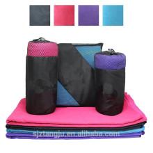 toalla de gimnasio de toalla de deportes de microfibra de logotipo personalizado con bolsillo