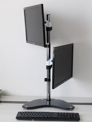 TV11 dual monitor desktop arm mount side 2