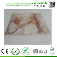 Revestimento da parede interior da estratificação WPC do filme do PVC e painel e contornando de teto