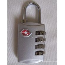 Tsa combinação zinco-liga 4 dials bloqueio de código cadeados (tsa309)