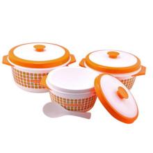 Plastikbehälter des Nahrungsmittelwärmer-3PC
