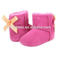 Botas de Meninos Boots Meninas Bota de Inverno com Bowknot