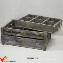 Countryside Stained Drink Bottle Wooden Slat Crate
