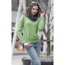 Ladies′ Round Neck Cashmere Sweater (1500002069)