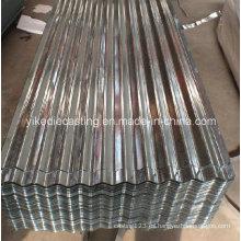 Hoja de techo de acero corrugado galvanizado recubierto de zinc